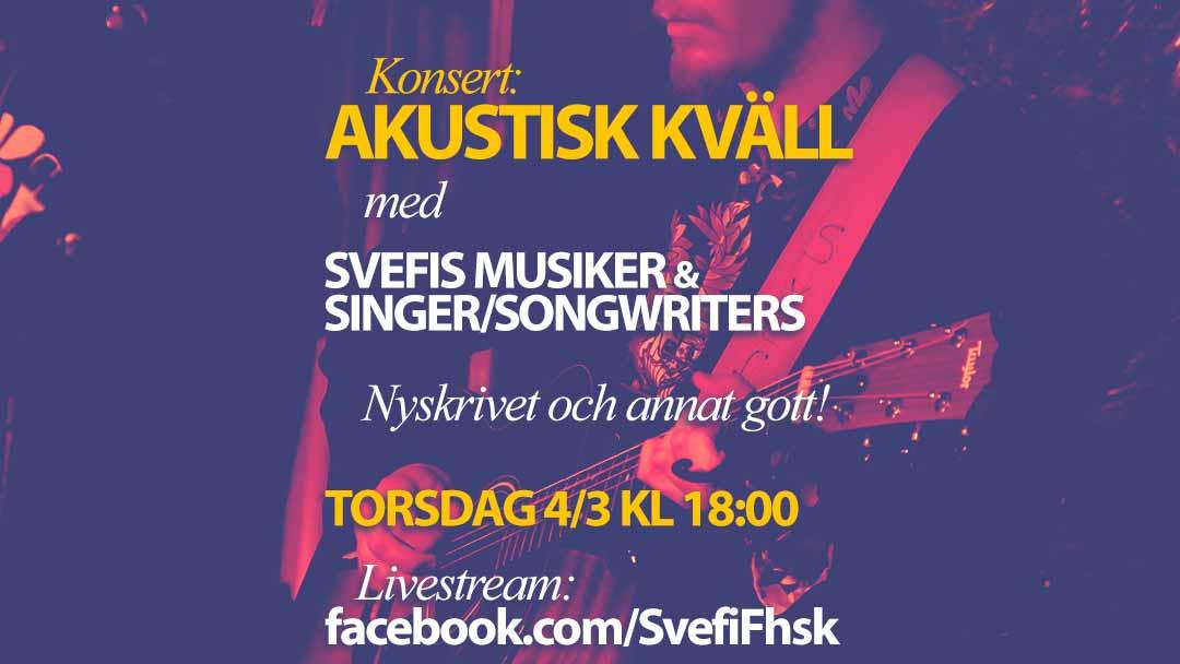 Livestreamad konsert: Akustisk kväll
