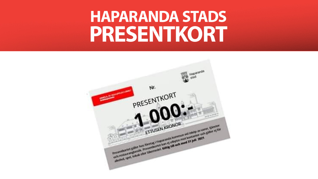 Betala med Haparanda stads presentkort